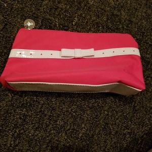 Really Cute Pink Lancome Makeup Case with Whit Bow